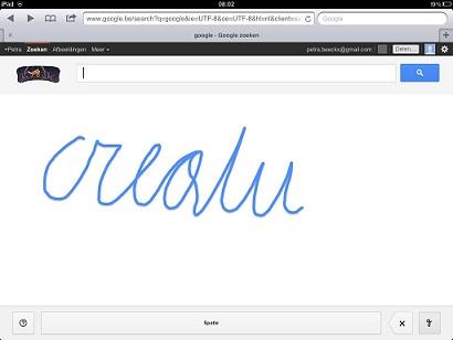Schoonschrift op Google
